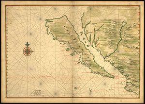 Карта Калифорнии 17 века