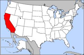 Калифорния на карте США