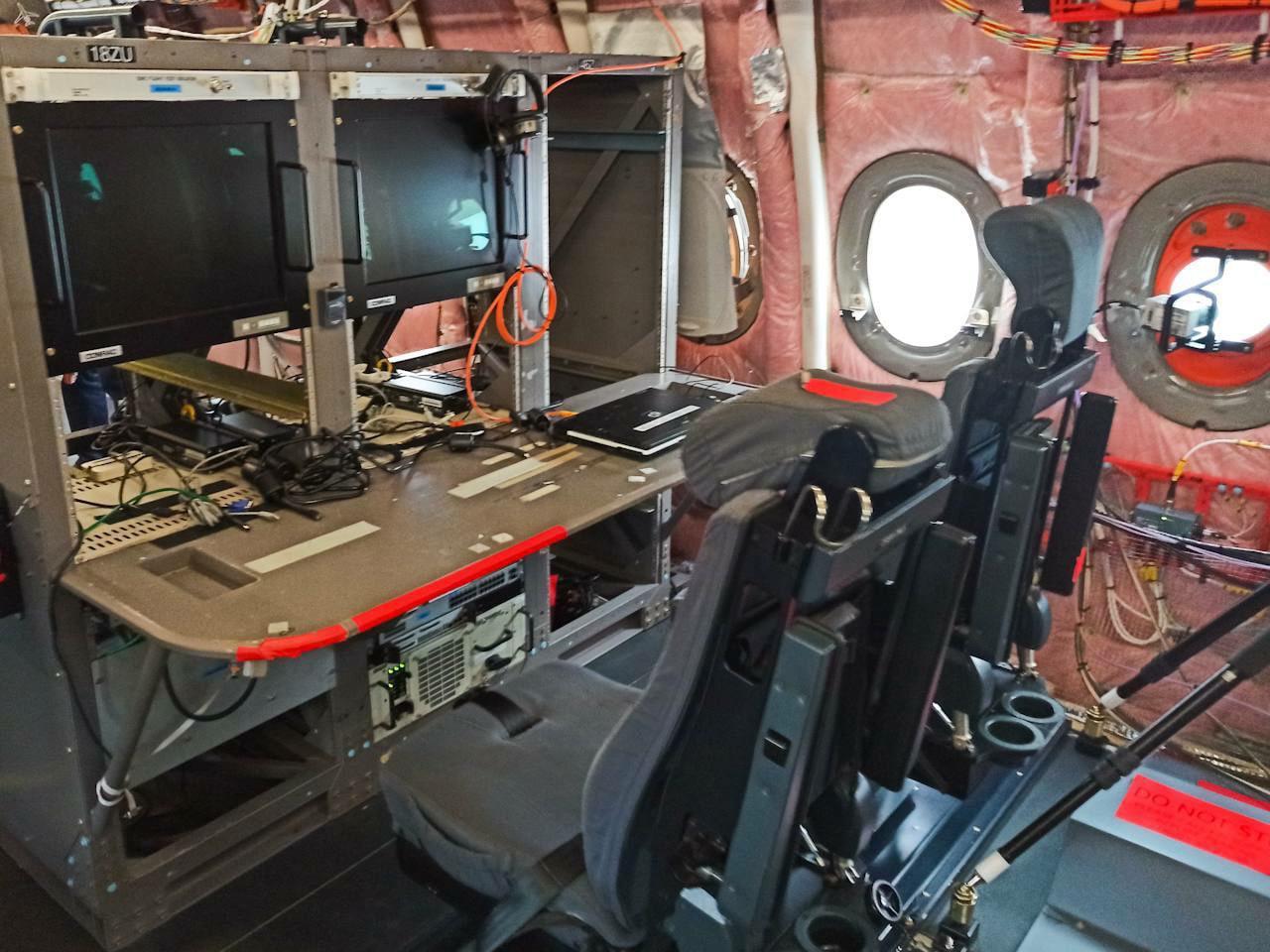 стенд летающей лаборатории A350-1000